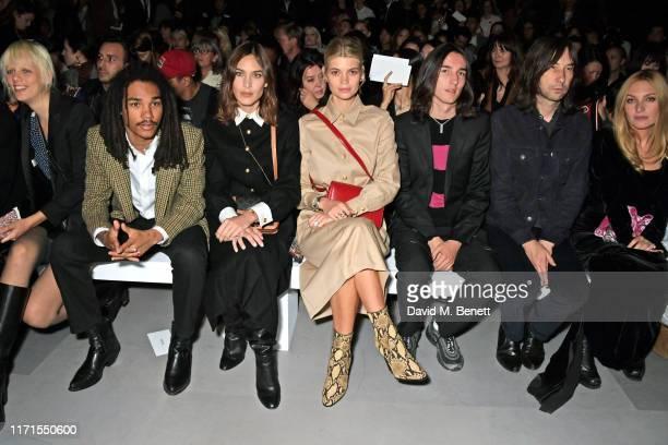 Marjan Jonkman, Luka Sabbat, Alexa Chung, Pixie Geldof, Wolf Gillespie, Bobby Gillespie and Josephine de La Baume attend the Celine Womenswear...