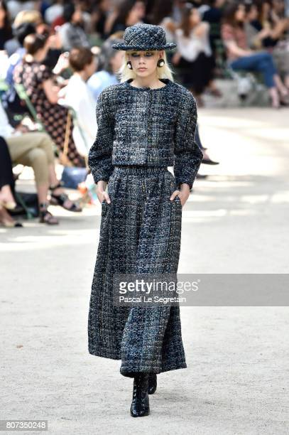 Marjan Jonkman walks the runway during the Chanel Haute Couture Fall/Winter 2017-2018 show as part of Haute Couture Paris Fashion Week on July 4,...