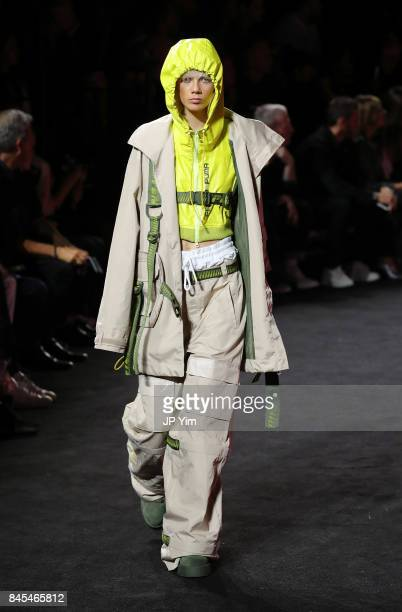 Marjan Jonkman walks the runway wearing Look 41 at the FENTY PUMA by Rihanna Spring/Summer 2018 Collection at Park Avenue Armory on September 10,...