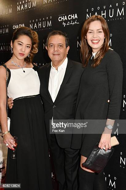 Marjolaine Bui Edouard Nahum and Anissa Bacha attend 'Black Whyte Party' by Edouard Nahum to celebrate his new Jewellery store in Aspen Colorado At...