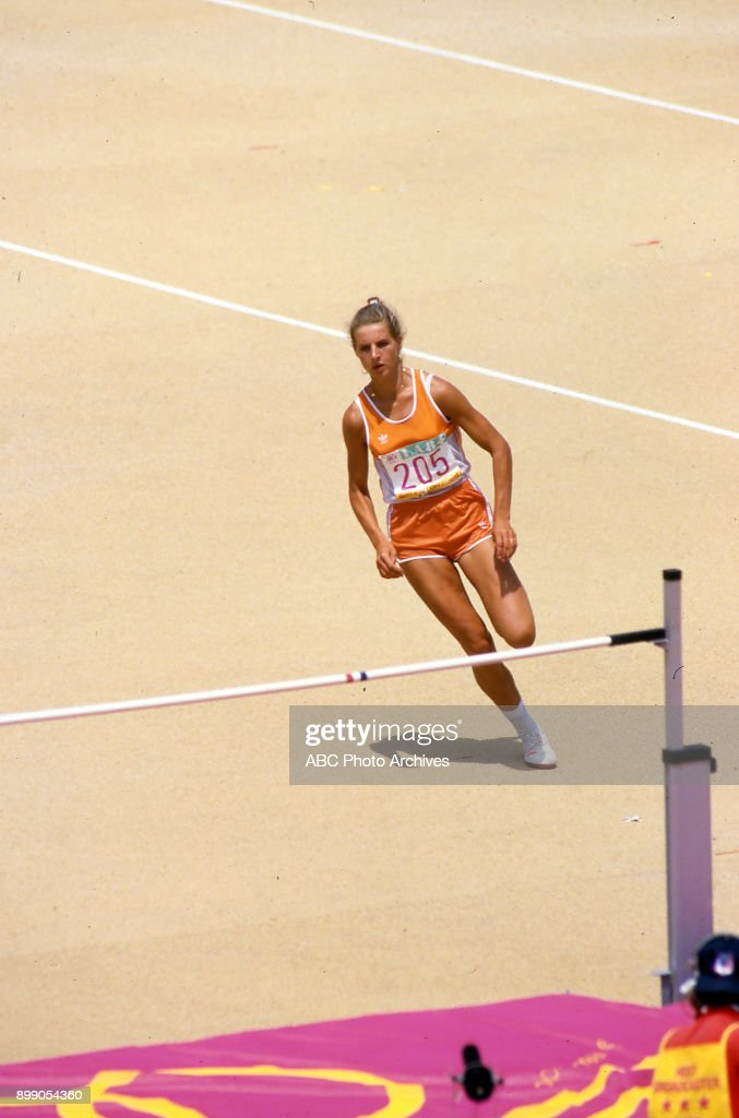 Women's Heptathlon Competition At The 1984 Summer Olympics : News Photo