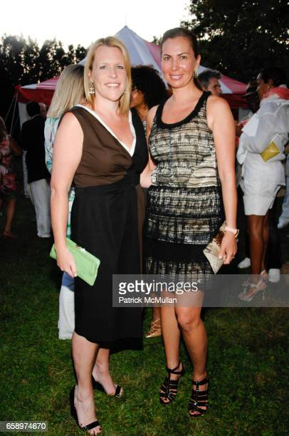 Marjoree Gubelmann and Inga Rubenstein attend DENISE RICH Party For The GP Foundation on August 7 2009 in Southampton NY
