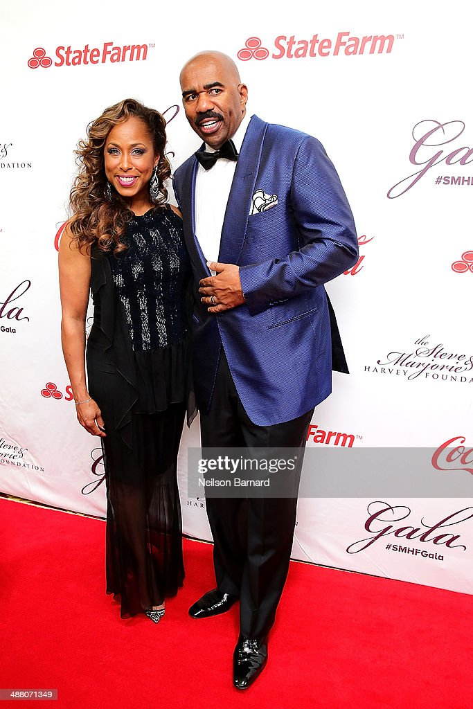Marjorie and Steve Harvey attend the 2014 Steve & Marjorie Harvey Foundation Gala presented by Coca-Cola at the Hilton Chicago on May 3, 2014 in Chicago, Illinois.