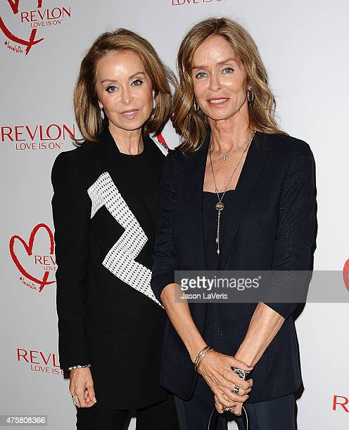 Marjorie Bach and Barbara Bach attend Revlon's celebration of achievements in cancer research at Four Seasons Hotel Los Angeles at Beverly Hills on...