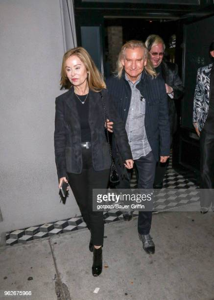 Marjorie Bach and Joe Walsh are seen on May 25 2018 in Los Angeles California