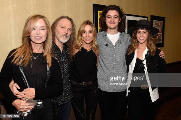 Marjorie Bach Timothy B Schmit Sheryl Crow Deacon Frey and Taylor Frey attend SiriusXM presents the Eagles in their first ever concert at the Grand...