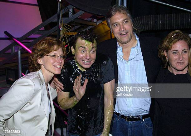 Marjorie Cohn Exec VP Nickelodeon Mike Myers Herb Scannell President MTV Networks and Cyma Zarghami President Nickelodeon Networks