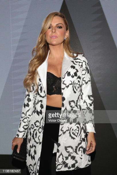 Marjorie de Sousa attends the MercedesBenz Fashion Week Mexico Fall/Winter 2019 Day 5 on April 5 2019 in Mexico City Mexico
