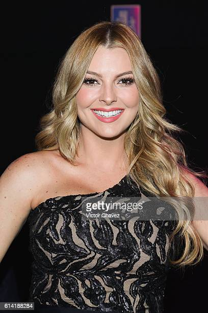Marjorie de Sousa attends the second day of MercedesBenz Fashion Week Mexico Spring/Summer 2017 at Maria Isabel Sheraton hotel on October 11 2016 in...