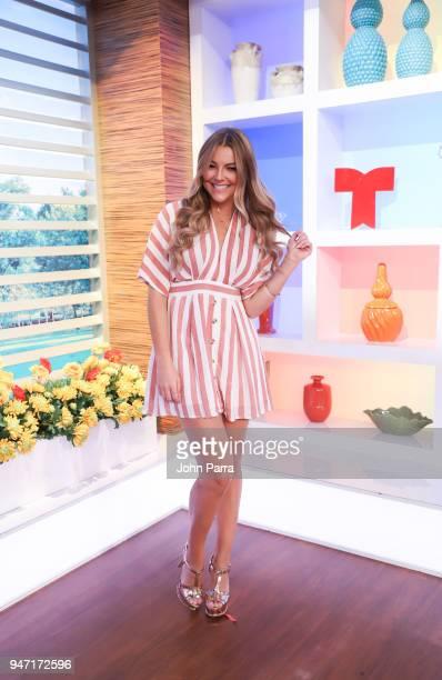 Marjorie De Sousa is seen at Telemundo's Un Nuevo Dia on April 16 2018 in Miami Florida