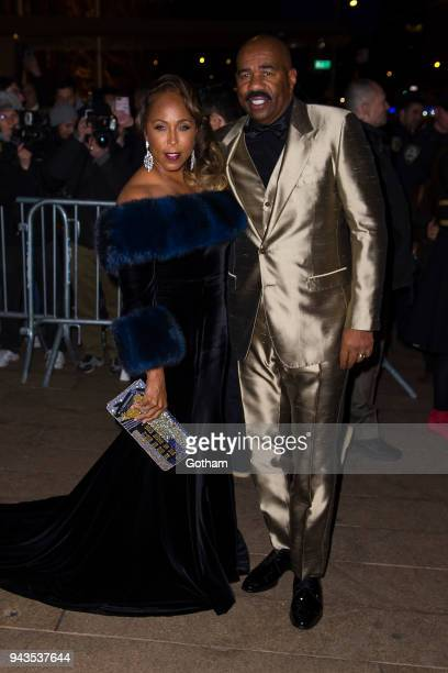 Marjorie Elaine Harvey and Steve Harvey attend the Dolce Gabbana Alta Moda 2018 collection at the Metropolitan Opera House at Lincoln Center on April...