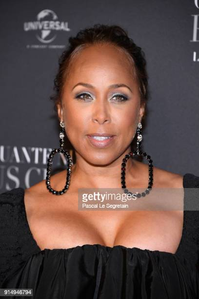 Marjorie Elaine Harvey attends 'Fifty Shades Freed 50 Nuances Plus Claires' Premiere at Salle Pleyel on February 6 2018 in Paris France