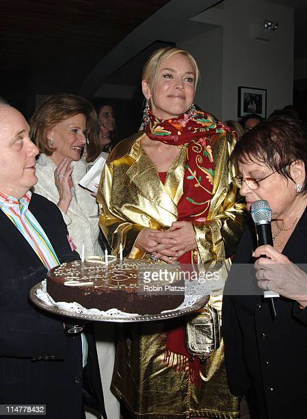 Marjorie Emden Sharon Stone and Eileen Mitzman during Basic Instinct 2 New York City Premiere After Party at Barneys Benefitting Concerned Parents...