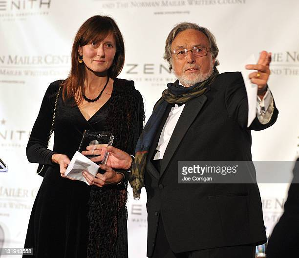 Marjorie GilchristYoung and Lawrence Schiller attend the 3rd Annual Norman Mailer Center Gala at the Mandarin Oriental Hotel on November 8 2011 in...