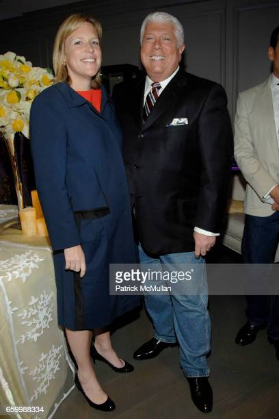 Marjorie Gubelmann and Dennis Basso attend SUZANNE SAPERSTEIN Hosts Private Cocktail Event at LEVIEV at Leviev on May 14 2009 in New York