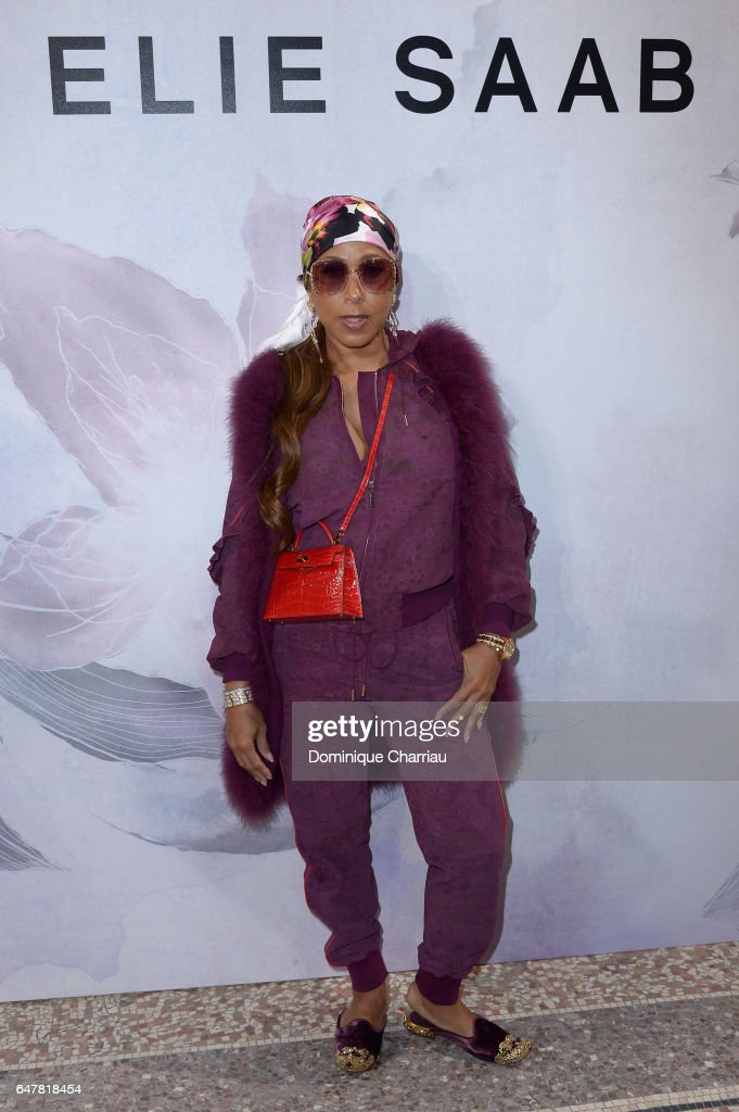 Marjorie Harvey attends the Elie Saab show as part of the Paris Fashion Week Womenswear Fall/Winter 2017/2018 on March 4, 2017 in Paris, France.