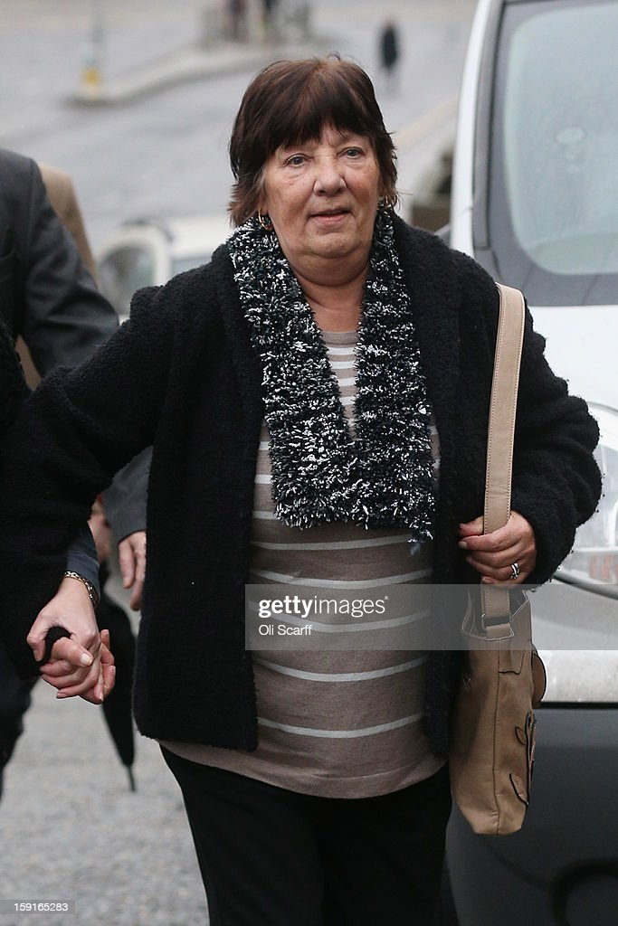 Marjorie Kidd, the mother of former stuntman Eddie Kidd, arrives at Brighton Magistrates Court to attend the trail of Samantha Kidd, the estranged wife of Eddie Kidd, who is charged with assaulting him on January 9, 2013 in Brighton, England. Samantha Kidd is accused of assaulting Mr Kidd, who is paralysed and brain-damaged after a stunt went wrong in August 1996, six times over a period of four months from July to October 2012.