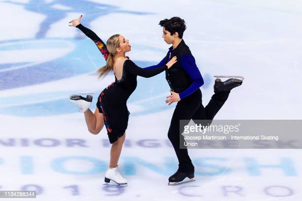Marjorie Lajoie and Zachary Lagha of Canada compete in the Junior Ice Dance Rhythm Dance during day 2 of the ISU World Junior Figure Skating...