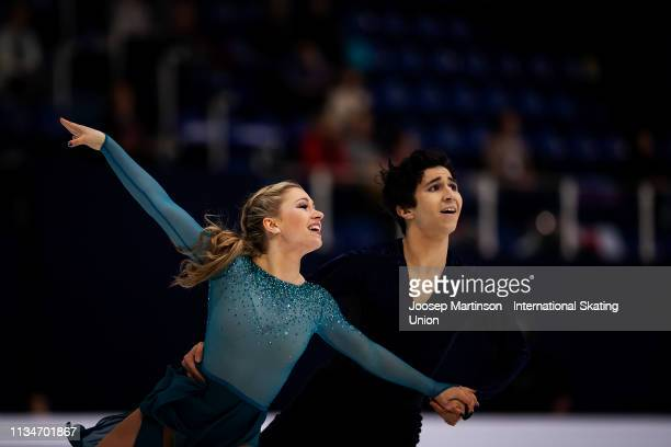 Marjorie Lajoie and Zachary Lagha of Canada compete in the Junior Ice Dance Free Dance during day 4 of the ISU World Junior Figure Skating...