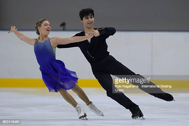 Marjorie Lajoie and Zachary Lagha of Canada compete in the junior ice dance free dance free program during the ISU Junior Grand Prix of Figure...