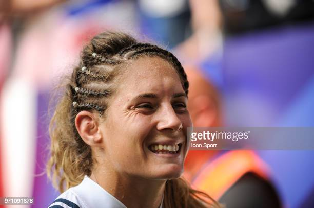 Marjorie Mayans of France after the bronze medal women match between France and Canada at the HSBC Paris Sevens stage of the Rugby Sevens World...