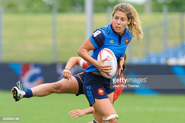 Marjorie MAYANS of France during the HSBC Women's Sevens Series match between France vs Spain on May 29 2016 in Clermont France