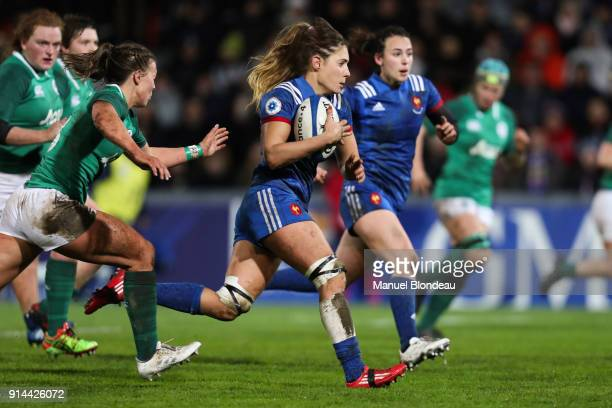 Marjorie Mayans of France during the RBS s Six Nations match between France and Ireland on February 3 2018 in Toulouse France