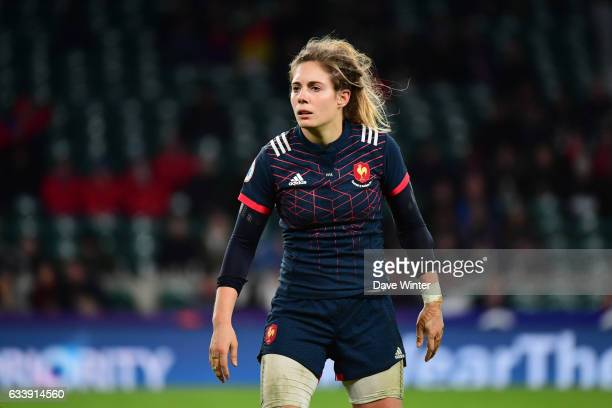 Marjorie Mayans of France during the Women's RBS Six Nations match between England and France at Twickenham Stadium on February 4 2017 in London...