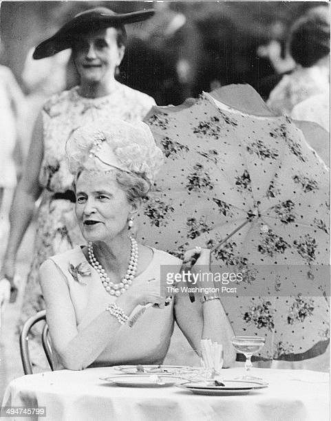 Marjorie Merriweather Post at a birthday reception honoring Queen Elizabeth II at the British Embassy