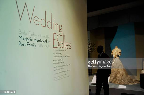 Marjorie Merriweather Post 's wedding gown worn during her first marriage at the age of eighteen to Edward Close The dress in on display as part of...