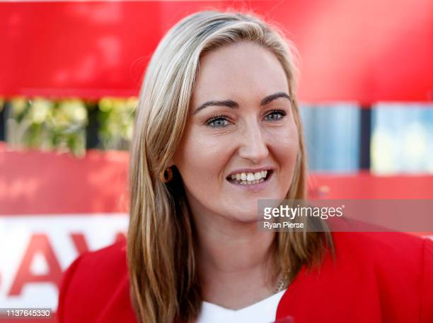 Marjorie O'Neill Labor's Candidate for Coogee speaks to voters at South Coogee Public School on March 23 2019 in Sydney Australia The 2019 New South...