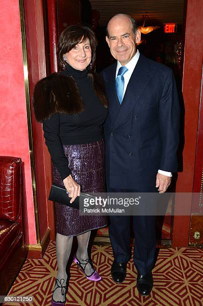 Marjorie Rosen and Jeffrey Rosen attend George Farias Anne and Jay McInerney Host A Christmas Cheer Holiday Party 2016 at The Doubles Club on...