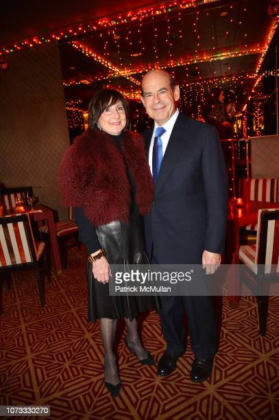 Marjorie Rosen and Jeffrey Rosen attend George Farias Anne Jay McInerney Host A Holiday Party at The Doubles Club on December 13 2018 in New York City