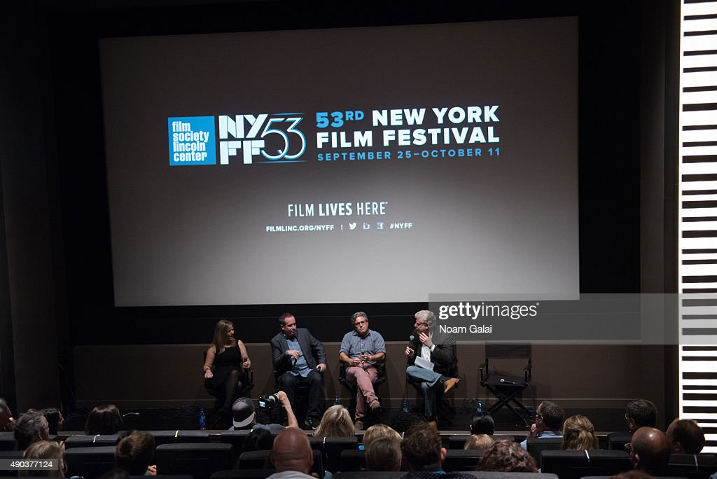 Marjorie Schussel, Kief Davidson, Ross Kauffman and Bob Garfield attend the Brand Meets Story Panel at the 53rd New York Film Festival at Elinor Bunin Munroe Film Center on September 27, 2015 in New York City.