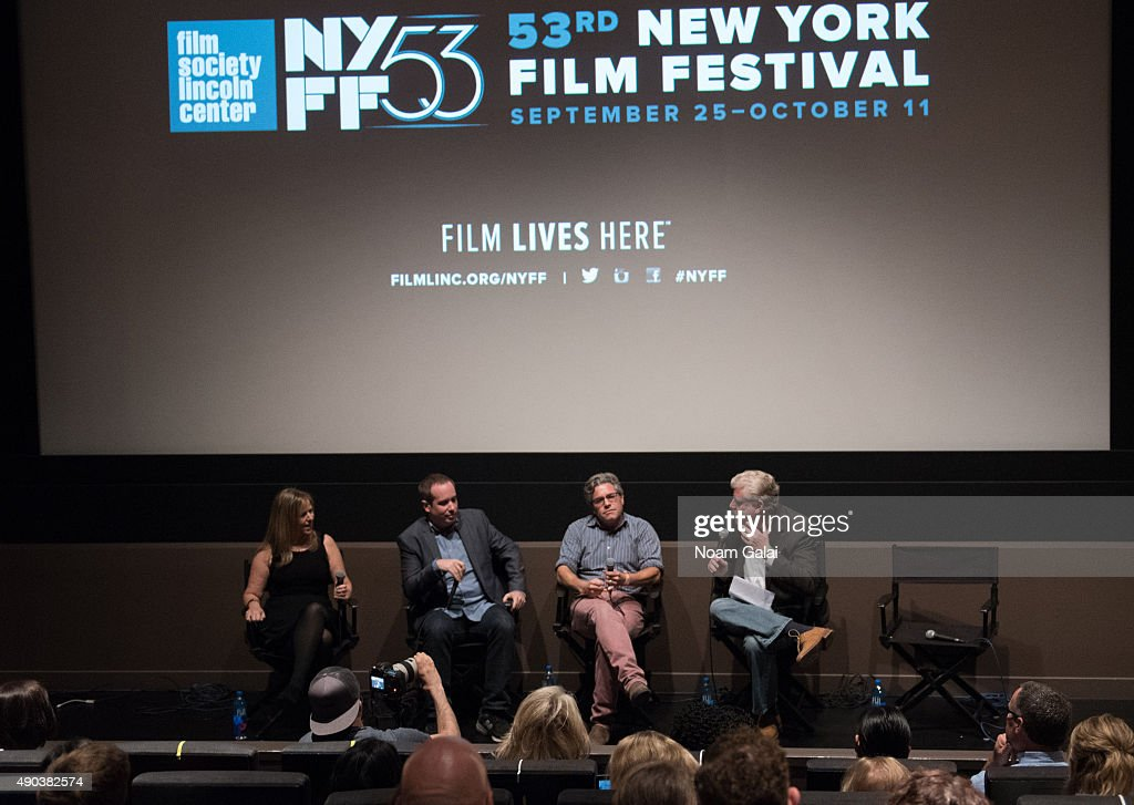 Marjorie Schussel, Kief Davidson, Ross Kauffman and Bob Garfield attend the Brand Meets Story Panel during the 53rd New York Film Festival at Elinor Bunin Munroe Film Center on September 27, 2015 in New York City.