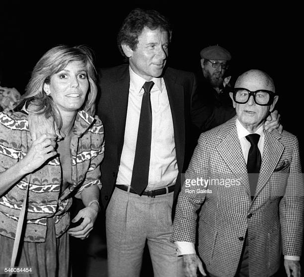 Marjorie Wallace Richard Cohen and Irving Swfity Lazar sighted on March 10 1983 at Spago Restaurant in West Hollywood California