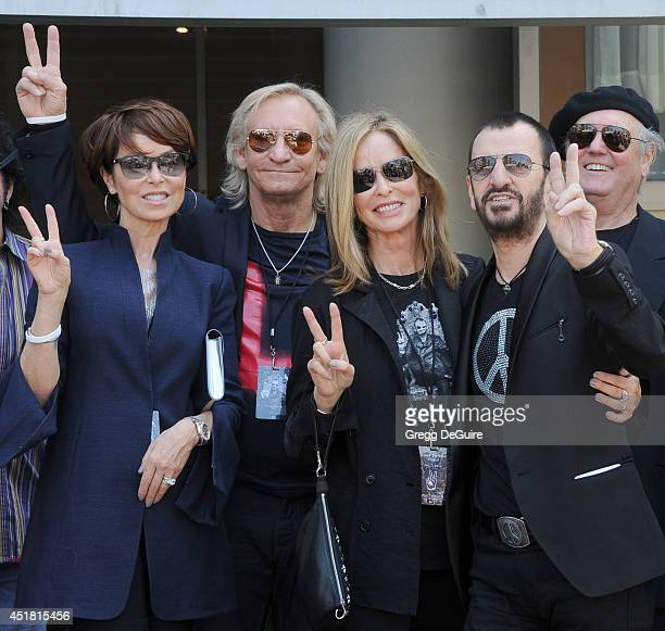 Marjorie Walsh musician Joe Walsh Barbara Bach and musician Ringo Starr attend the announcement of special collaboration of John Varvatos and Ringo...