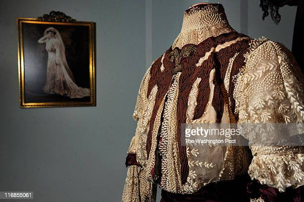 Marjorie's Traveling suit in 1905 as part of the new exhibit 'Wedding Belles' at the Hillwood Estate seen during a preview on Tuesday June 14 2011 in...