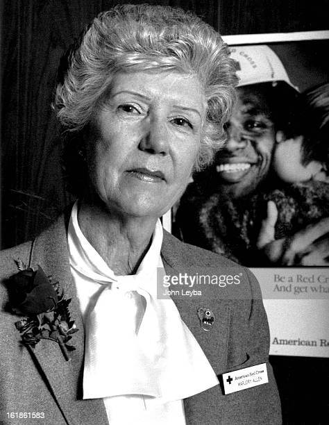 NOV 22 1989 Marjory Allen of the American Red Cross who just hot back from Puerto Rico where assisted with Hurricane Hugo victims