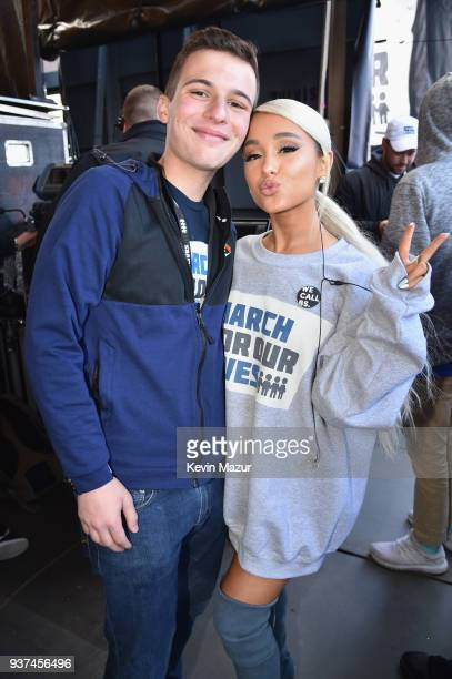 Marjory Stoneman Douglas High School student Cameron Kasky and Ariana Grande attend March For Our Lives on March 24 2018 in Washington DC