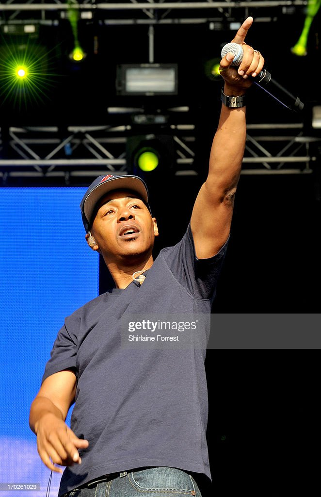 Mark 7even of Jurassic 5 performs at Day 2 of the Parklife Festival at Heaton Park on June 9, 2013 in Manchester, England.