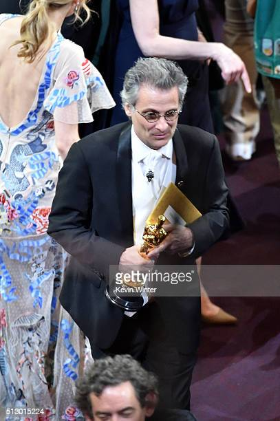 Mark A Mangini winner of the Best Sound Editing award for 'Mad Max Fury Road' in the audience during the 88th Annual Academy Awards at the Dolby...