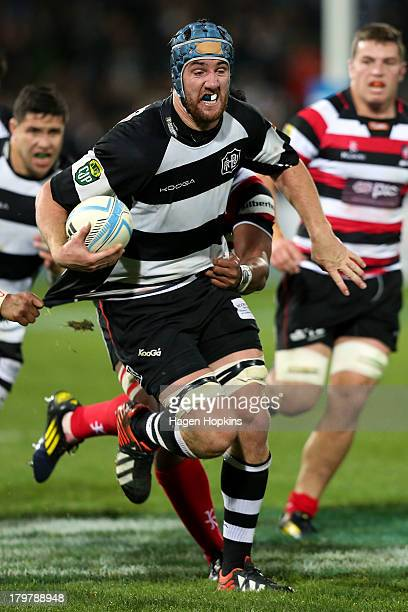 Mark Abbott of Hawke's Bay makes a break during the round four ITM Cup Ranfurly Shield match between Hawke's Bay and Counties Manukau at McLean Park...