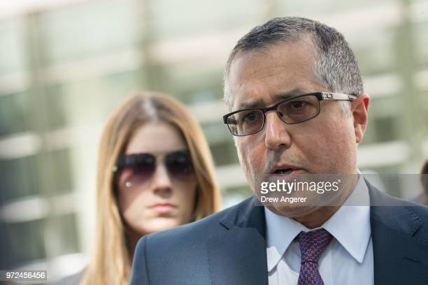 Mark Agnifilo, attorney representing Keith Raniere and Allison Mack, speaks to reporters following a status conference where Raniere was again denied...