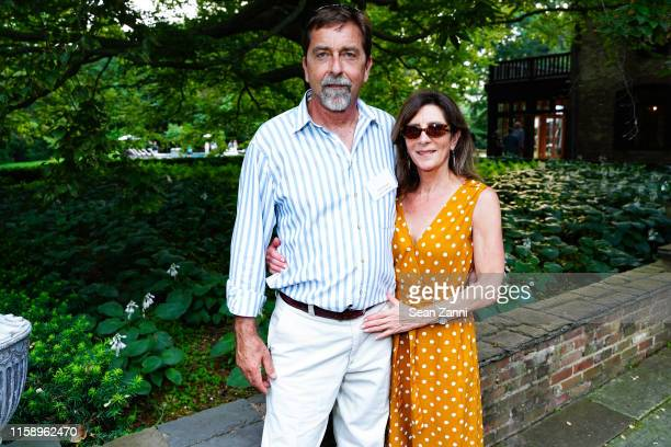 Mark Agosta and Cathy Philipakos attend A Country House Gathering To Benefit Preservation Long Island on June 28 2019 in Locust Valley New York