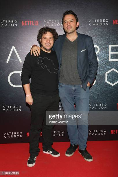 Mark Alazraki and Fernando Rovzar attend the premiere of Netflix's Altered Carbon at El Plaza Condesa on January 25 2018 in Mexico City Mexico