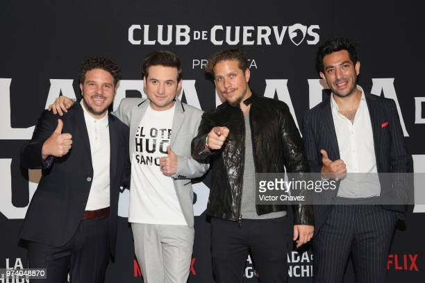 Mark Alazraki Jesus Zavala Gas Alazraki and Moises Chiver attend Netflix 'La Balada de Hugo Sanchez' special screening at Alboa Patriotismo on June...