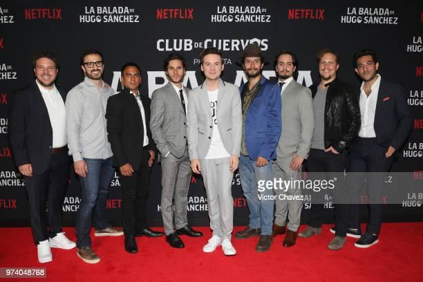 Mark Alazraki Memo Dorantes Jesus Zavala Raul Briones Aldo Escalante Gas Alazraki and Moises Chiver attend Netflix 'La Balada de Hugo Sanchez'...