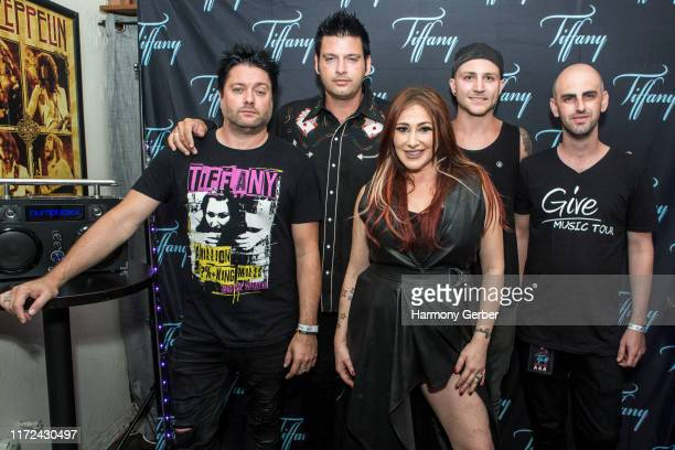 Mark Alberici Oliver Alberici Tiffany Cody Waggett and Patrick McIsaac pose for a portrait backstage at the Whisky A Go Go on September 04 2019 in...