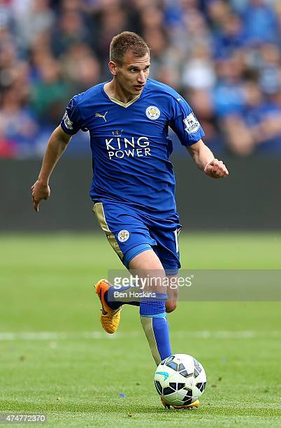 Mark Albrighton of Leicester in action during the Premier League match between Leicester City and Queens Park Rangers at The King Power Stadium on...